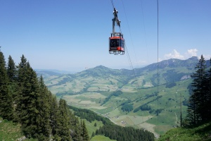 Cable car in Appenzell